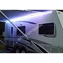 RV Awning Camper recreational vehicle RGB LED Lights 16.4' feet of LED Strips with 24 key IR remote control