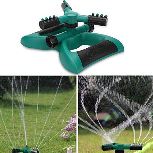 Enjoyee Impact Lawn Sprinkler, Automatic Water Sprinkler Garden User Manual, Rotating Adjustable Angle Distance, Bonus 1 Rotary Sprinkler Head, Waters up to 40' Diameter (Style 2)