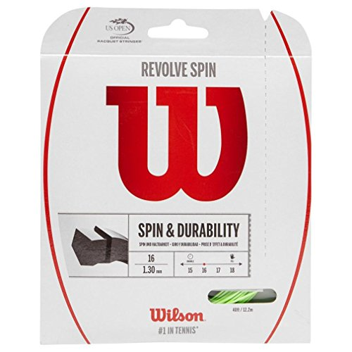 Wilson Revolve Spin (16-1.30mm) Tennis String Set (Green)
