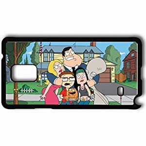 Personalized Samsung Note 4 Cell phone Case/Cover Skin American Dad Black