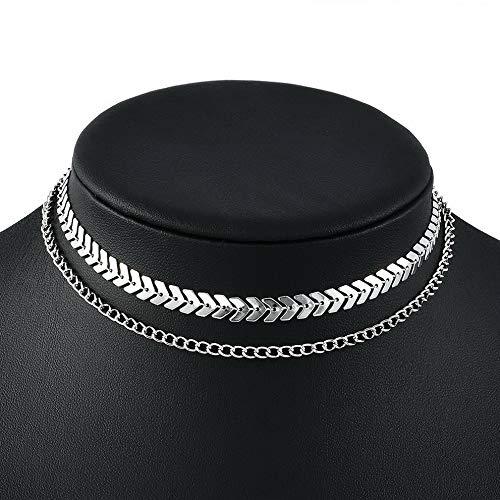 (Werrox Women Fashion Choker Chunky Statement Bib Charm Pendant Chain Necklace Jewelry | Model NCKLCS - 22216 |)