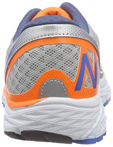 New Balance W1260v5 - Zapatillas de Entrenamiento Hombre Plateado - Silber (Silver/Orange/Blue)