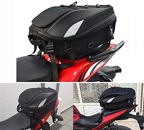 Hecktasche Motorrad Wasserdicht Motorrad Sitztasche Hecktasche Motorrad Motorrad Rucksack Wasserdicht Gep/äck Taschen Motorrad Helm Tasche Aufbewahrungstaschen Blau