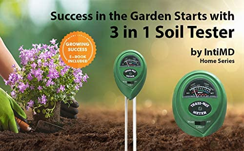 Homes Series Green No Battery Required IntiMD Quick /& Easy 3 in 1 Soil Tester Soil Moisture//Light//pH Tester Gardening Tool Kits for Plant Garden Lawn Farm Indoor /& Outdoor Use