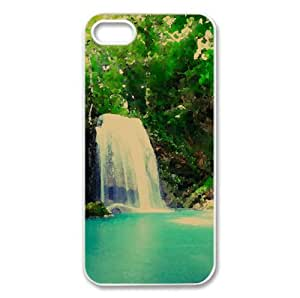Tropical Waterfall Watercolor style Cover iPhone 5 and 5S Case (Waterfalls Watercolor style Cover iPhone 5 and 5S Case)