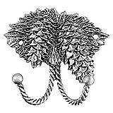 Sierra Lifestyles Decorative Hook, Pinecone, Pewter
