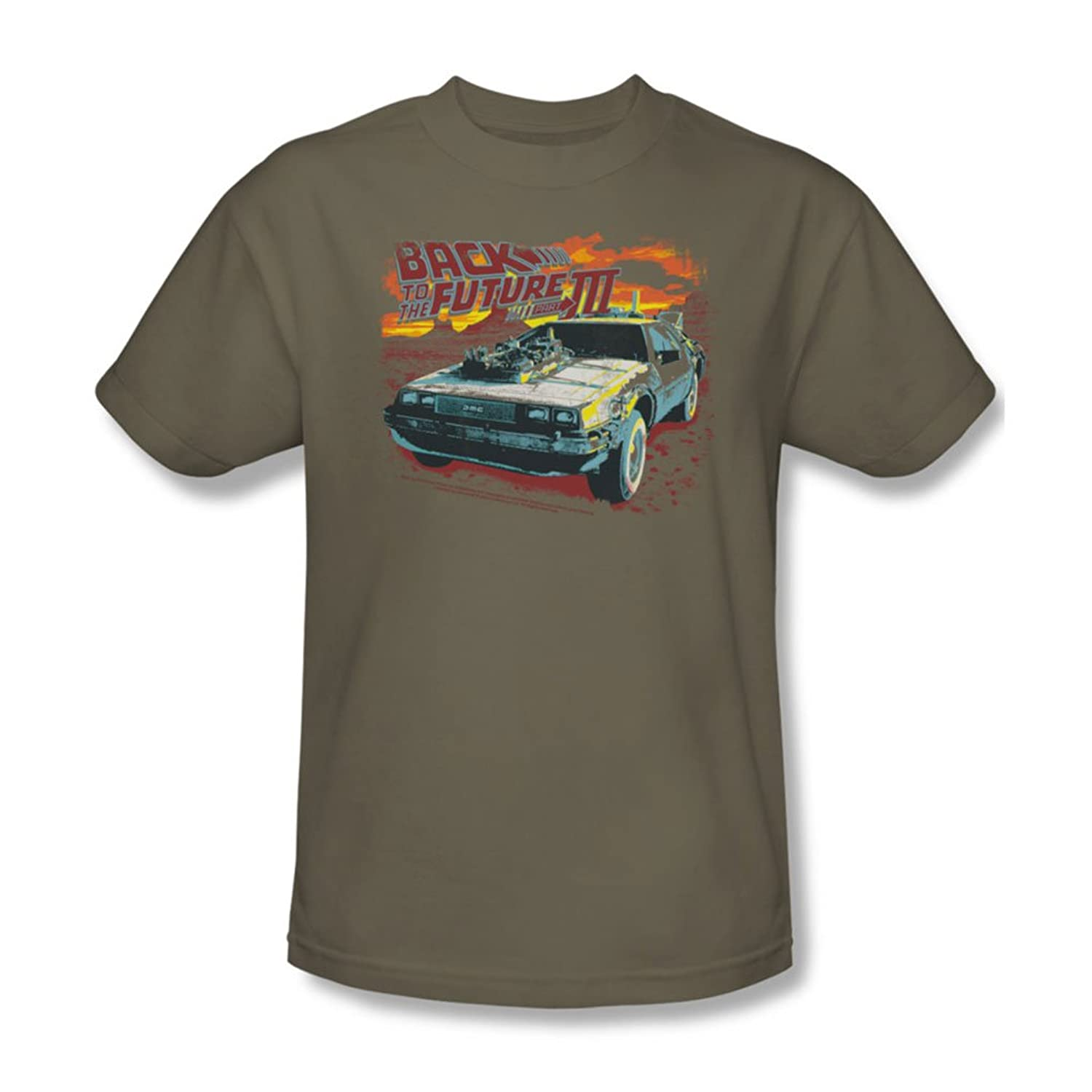 Back To The Future Iii - Mens Wild West T-Shirt In Safari Green