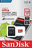 Sandisk Ultra 128GB Micro SDXC UHS-I Card with Adapter -  100MB/s U1 A1 - SDSQUAR-128G-GN6MA