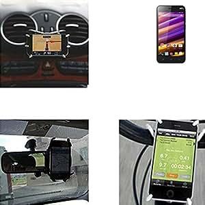 """soporte para coche y para mesa etc. para Wiko Jimmy, negro """"araña"""". montaje de la salida aire, espejo retrovisor, bicicletas, etc. Trípode - K-S-Trade (TM)"""