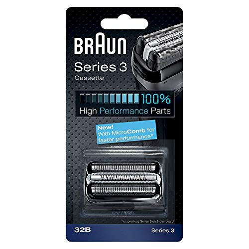 (Braun Series 3 32B Foil & Cutter Replacement Head, Compatible with Models 3000s, 3010s, 3040s, 3050cc, 3070cc, 3080s, 3090cc)