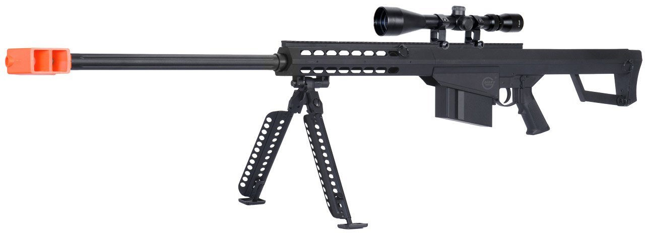 lancer tactical m82 airsoft spring sniper rifle w/ bipod and scope(Airsoft Gun)