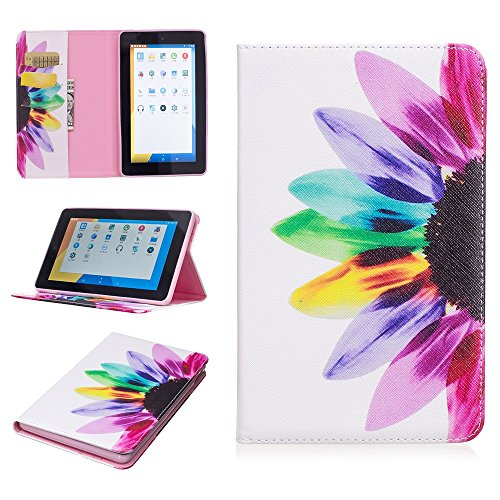 Voberry Folding Stand Painted Leather Case Cover For Amazon Kindle Fire 7 2015 Tablet (E) (Kindle Fire Hd 7 32gb Best Price Uk)