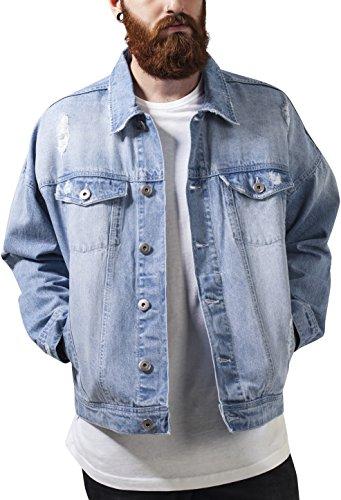 Jacket Azul Urban Ripped Denim Hombre Bleached Classics para Chaqueta qHHftxr