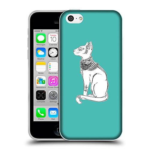 GoGoMobile Coque de Protection TPU Silicone Case pour // Q09520634 Déesse bastet 2 Turquoise // Apple iPhone 5C