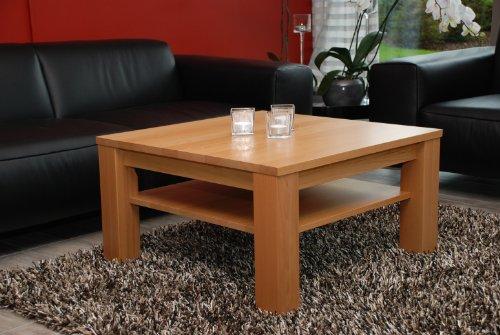 Couchtisch Tisch 90x90 Cm Mit Ablage Buche Echtholz Massivholz Hhe 42 Amazonde Kche Haushalt