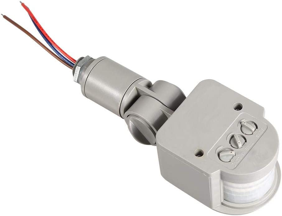VIFERR Sensor de Movimiento Detecta, LED al Aire Libre 90~250V Interruptor de 180 Grados de Infrarrojos PIR Sensor de Movimiento Ligero de la Pared: Amazon.es: Hogar