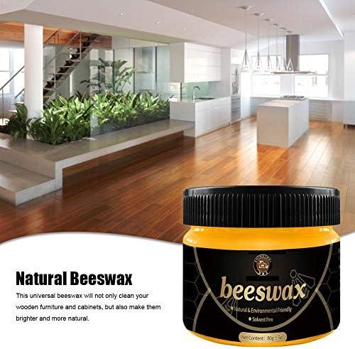 Peitten Bienenwachspolitur für Holz & Möbel Holzgewürz Beewax Wasserdichtes natürliches Bienenwachs Möbelpflegezubehör für Holzreiniger und polnische Tücher ungiftig
