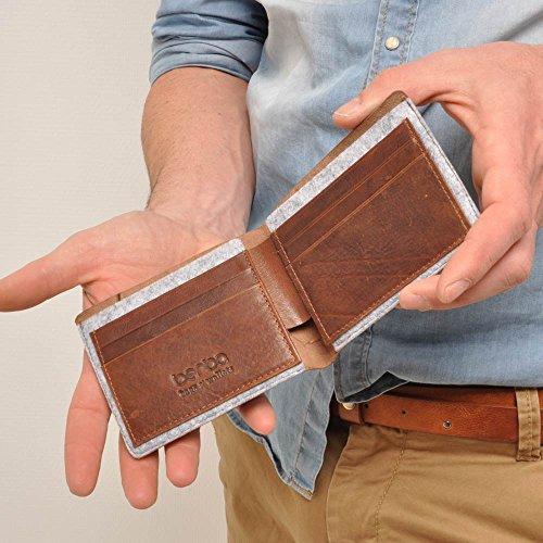 berba Bern 150 Kreditkartenbörse in cognac
