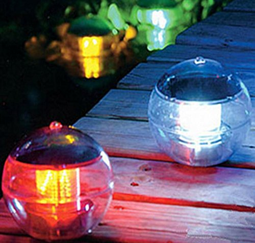Deserve to Buy Outdoor Garden Rotating Color Changing Solar LED Nightlight Floating Lamp