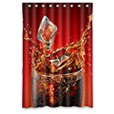 Coca Cola Shower Curtain Custom Waterproof Bathroom Summer Cool Coke Shower Curtain Polyester Fabric Shower Curtain 48