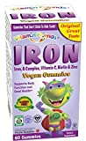 Vitamin Friends - Iron Vegan Gummies, Iron Supplement For Kids, Supports Healthy Body Function, Organic & Kosher Certified, Allergen & Gluten Free (Strawberry, 60 Count)