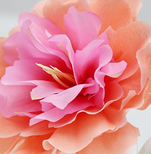 1pcs silk peony Flower wedding beach headdress party bridal Hair Clip Pin orange