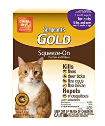 Sergeant\'S Gold Flea And Tick Squeeze-On Cat Over 5-Pound [Misc.] by Sergeant\'s