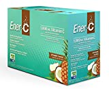 Ener-C Effervescent Multivitamin Non-GMO Gluten-Free Vegan Powdered Fruit Juice Drink Mix for Immune Support and Hydration with Electrolytes Pineapple Coconut Flavor 30 Packets
