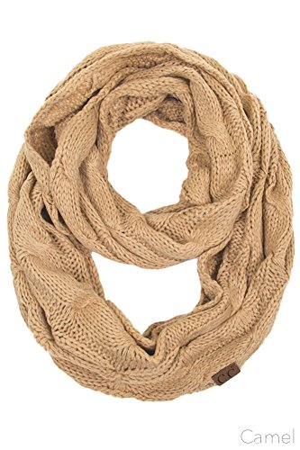 ScarvesMe CC Women Fashion Knitted Weaved Infinity Loop Scarf (Camel) by ScarvesMe