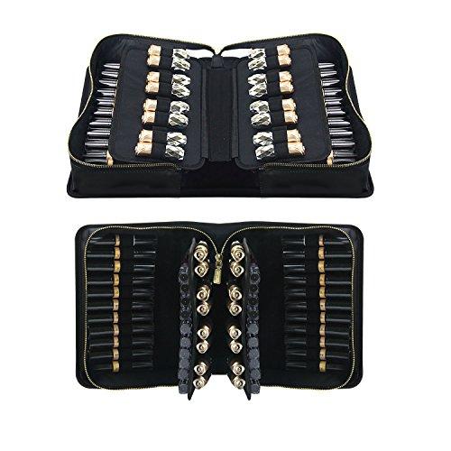 MONSTINA 66 Slots Lipstick Bag,Portable Lipstick Organizer,M