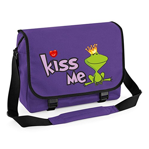 Mein Zwergenland Messenger Bag Kiss me, 14 L, Purple