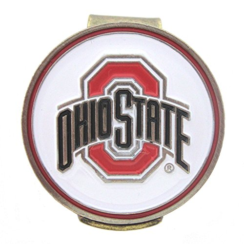 Ohio State Buckeyes Hat Clip with Golf Ball Marker