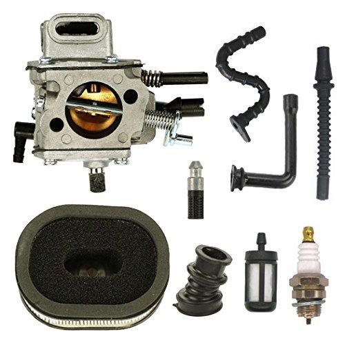 NIMTEK Carburetor with Air Filter Fuel Line Spark Plug Kit for STIHL MS640 MS650 MS660 064 066 Chainsaw Carb