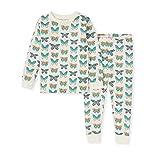 Burt's Bees Baby Baby Girls' Pajamas, Tee and Pant 2-Piece Pj Set, 100% Organic Cotton, Butterfly Chart, 3T