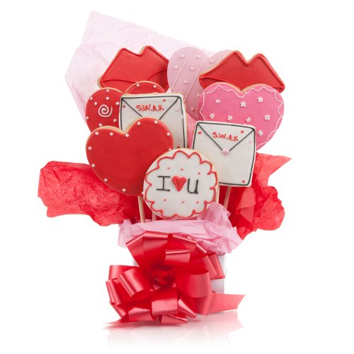 Lots of Love Cookie Bouquet- 9 Pc Bouquet