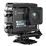 SJCAM SJ6 Legend 4K Action Camera 16MP/Dual Screen/2.0 Touchscreen/Gyro Stabilization/External Microphone Supported/Remote Control Wifi Underwater Camera with Waterproof Case & Accessories- Black