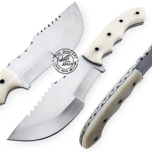 Beautiful Camel Bone Handmade D2 Steel Tracker Hunting Knife Prime Quality
