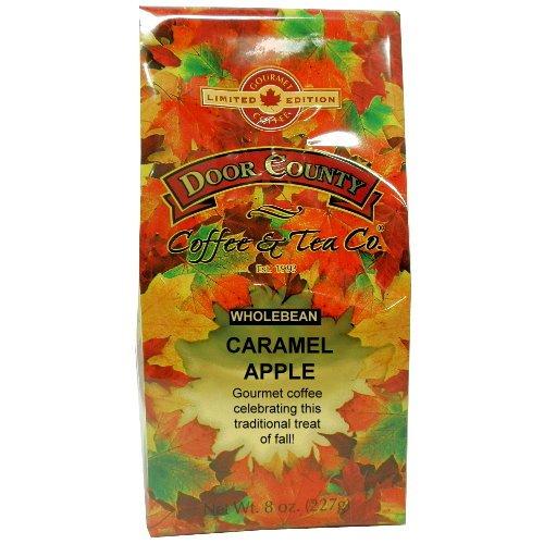 - Door County Coffee Fall Seasonal Blend, Caramel Apple, Ground, 8oz Bag