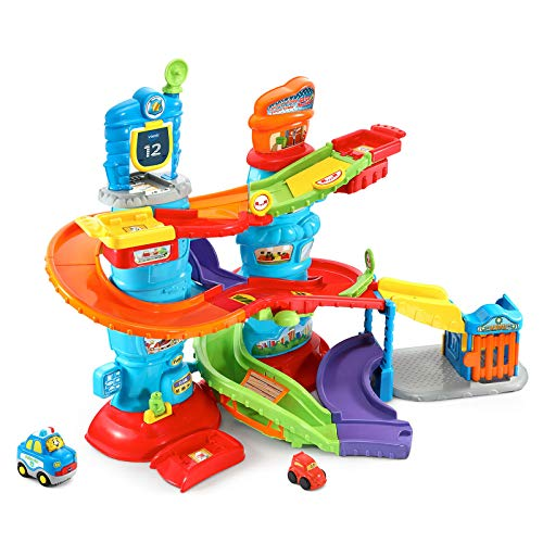 VTech Go! Go! Smart Wheels Launch and Chase Police Tower (Car Ramp Toy)