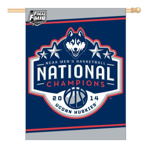 NCAA Connecticut Huskies Final Four Banner/Vertical Flag, 27 x 37-Inch, Multi (Wiz Nose)