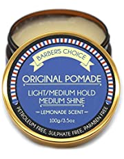 Barber's Choice Original Pomade - Lemonade Scented – Light/Medium Hold Medium Shine Hair Pomade for Men - All Natural Ingredients Nourish and Condition Hair
