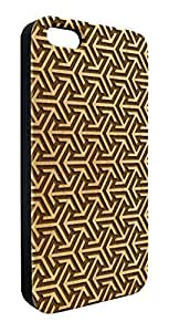 Genuine Maple Wood Organic Abstract Geometric Pattern Snap-On Cover Hard Case for iPhone 4/4S by lolosakes