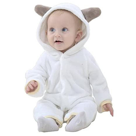 acbb17c631d3 Michley Baby Girls Boys Romper Bear Style Jumpsuit Autumn   Winter ...