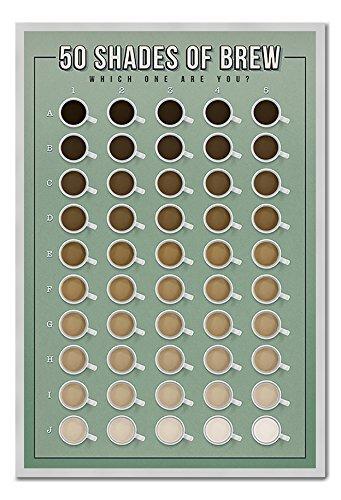 50 Shades Of Brew welches One sind Sie Poster Kork Pinnwand silber Rahmen, 96,5 x 66 cm (ca. 96,5 x 66 cm)