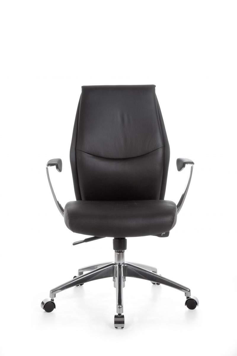 FineBuy silla de oficina de cuero reales oxete 2 Silla de ...