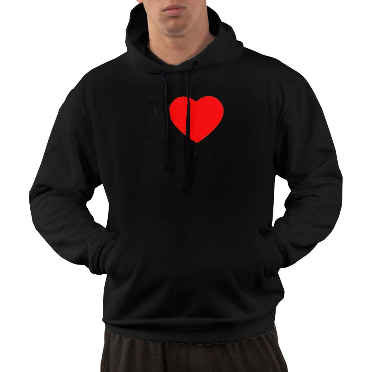 Delta Sigma Theta Sorority Hoodie Mens Autum Winter Long Sleeve Pullover Jackets Outwear with Front Pocket