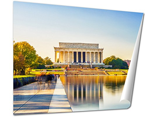 Ashley Giclee Fine Art Print, Lincoln Memorial And Pool In Washington Dc USA, 16x20, - Is Where Memorial City Mall