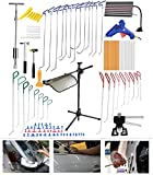 AUTOPDR® Paintless Auto Car Ding Dent PDR Rod Repair Hail Removal Puller Hammer Tap Down Hook Wedge Tool Kits 87pcs