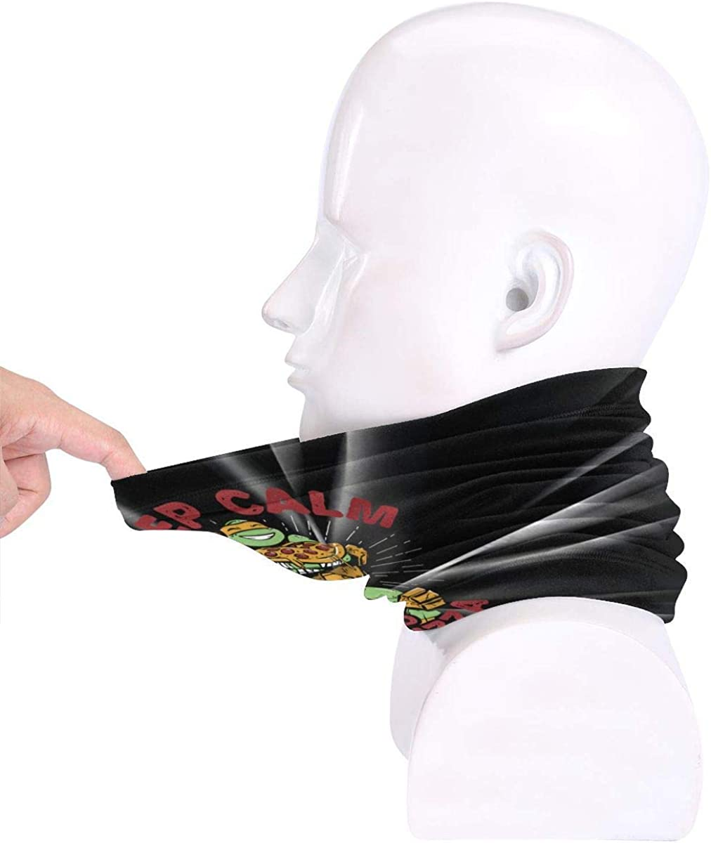 Hdadwy Les hommes gardent le calme manger Pizza couvre le visage /écharpe unisexe polyvalence r/éutilisable garder au chaud coupe-vent cache-cou
