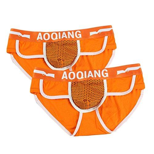 (iOPQO Fashion Men Boxer Brief Shorts Soft Cotton Underwear Bulge Pouch Pant)